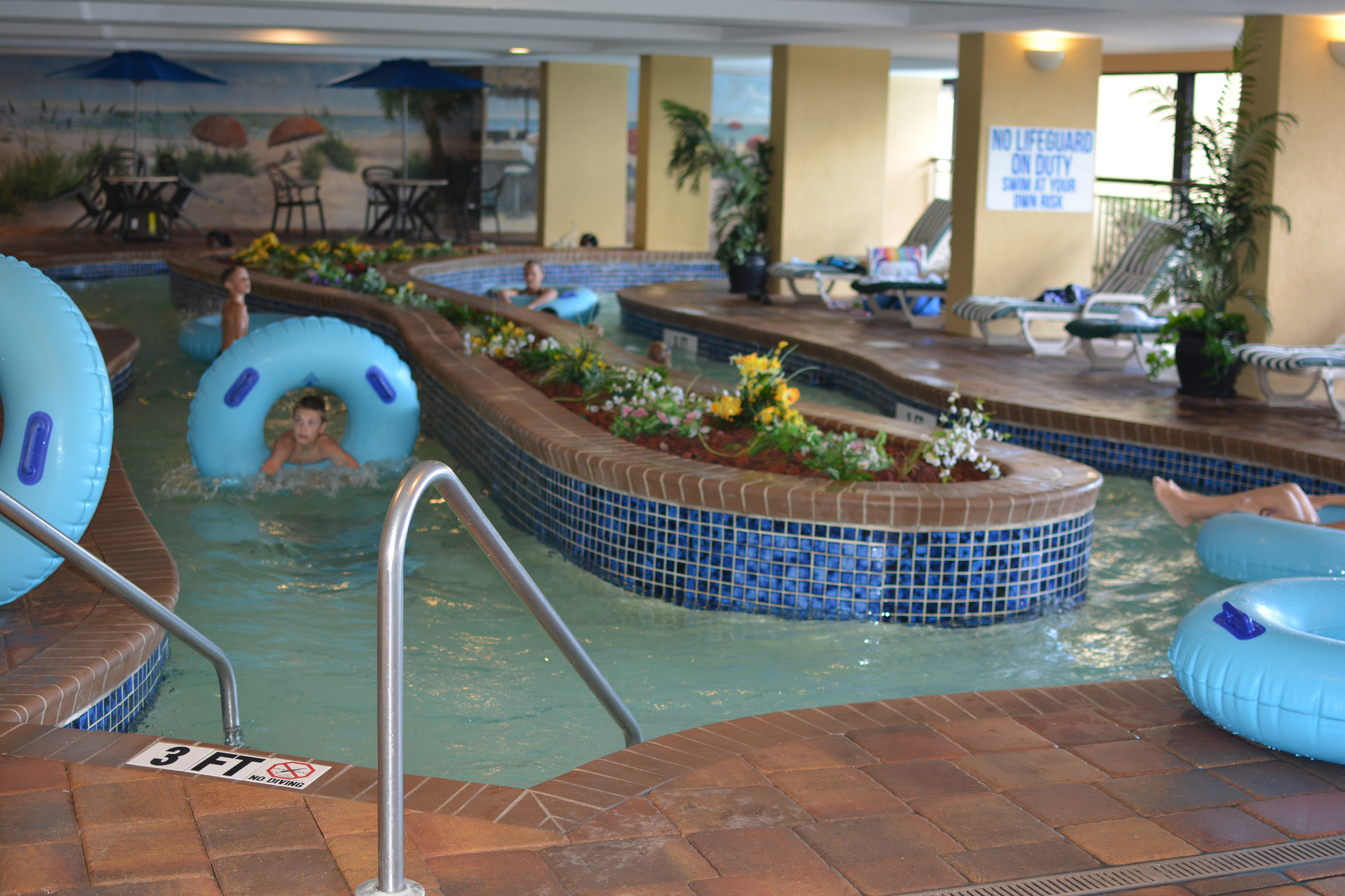 Holiday Pavilion Oceanfront Resort Family Vacation Rental Condo - Indoor Lazy River Pool, one of 5 Pools!