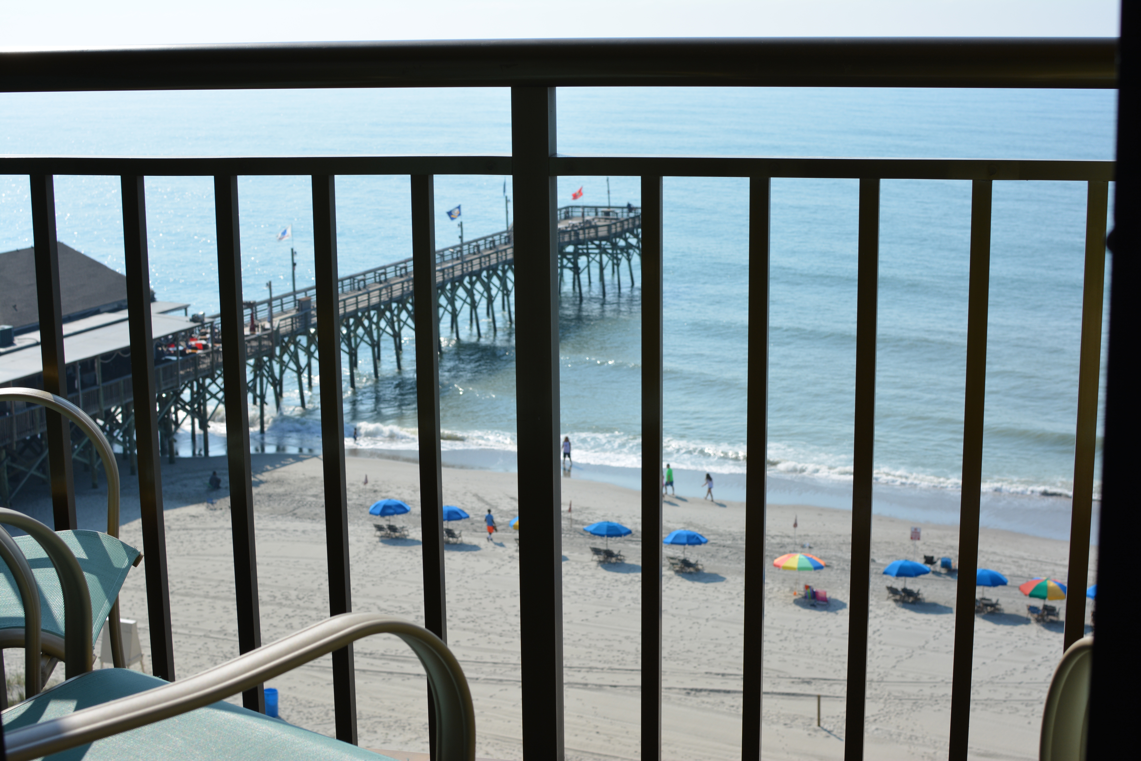 Holiday Inn at the Pavilion - living area overlooking the beach, the pier & the boardwalk