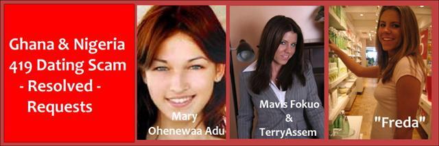 Ghana-Nigerian Dating & Gold Scam, Mary Oheewaa Adu, Mavis Fokuo, Terry Assem, Freda