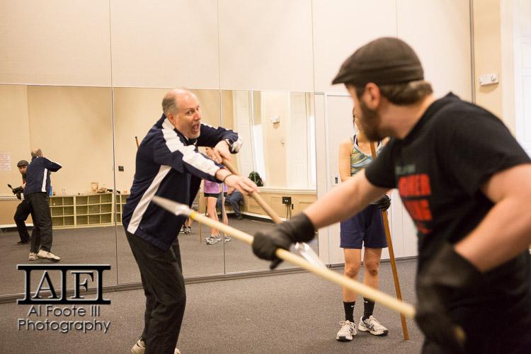 Mitch assisting Joe Travers' spear class