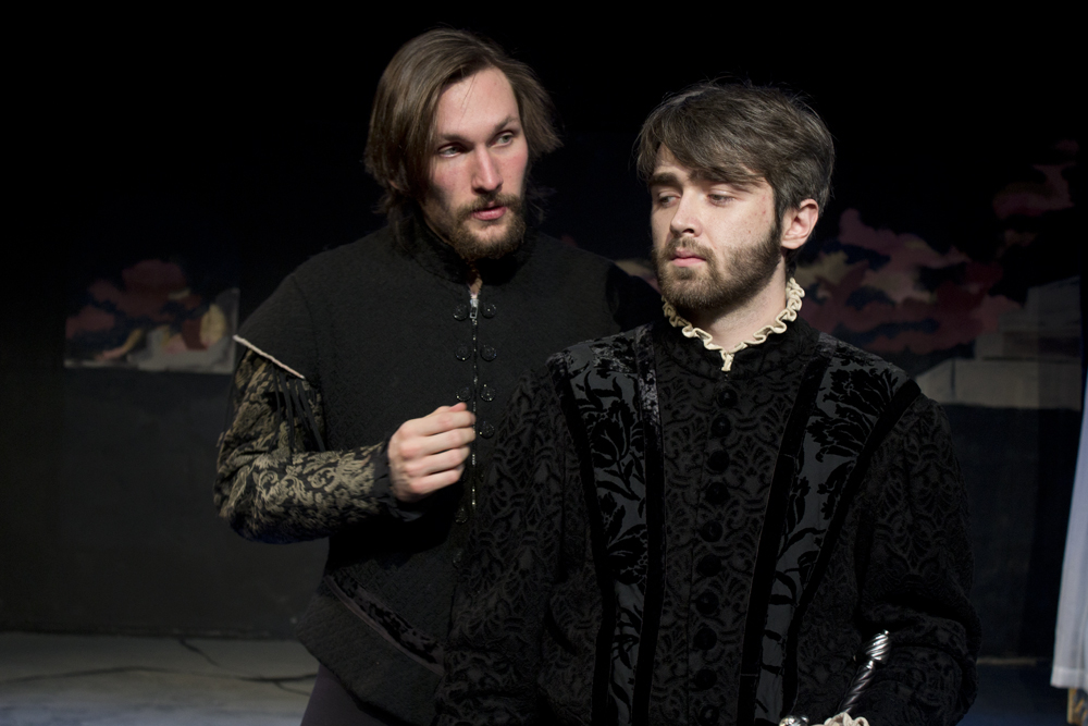 Production still from Othello with Evan Olsen