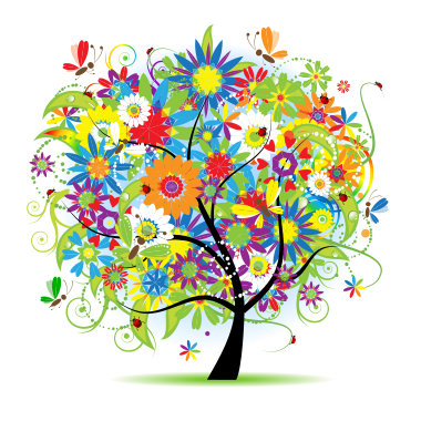 Colorful Tree of Life Logo for Angela Wu, LCSW
