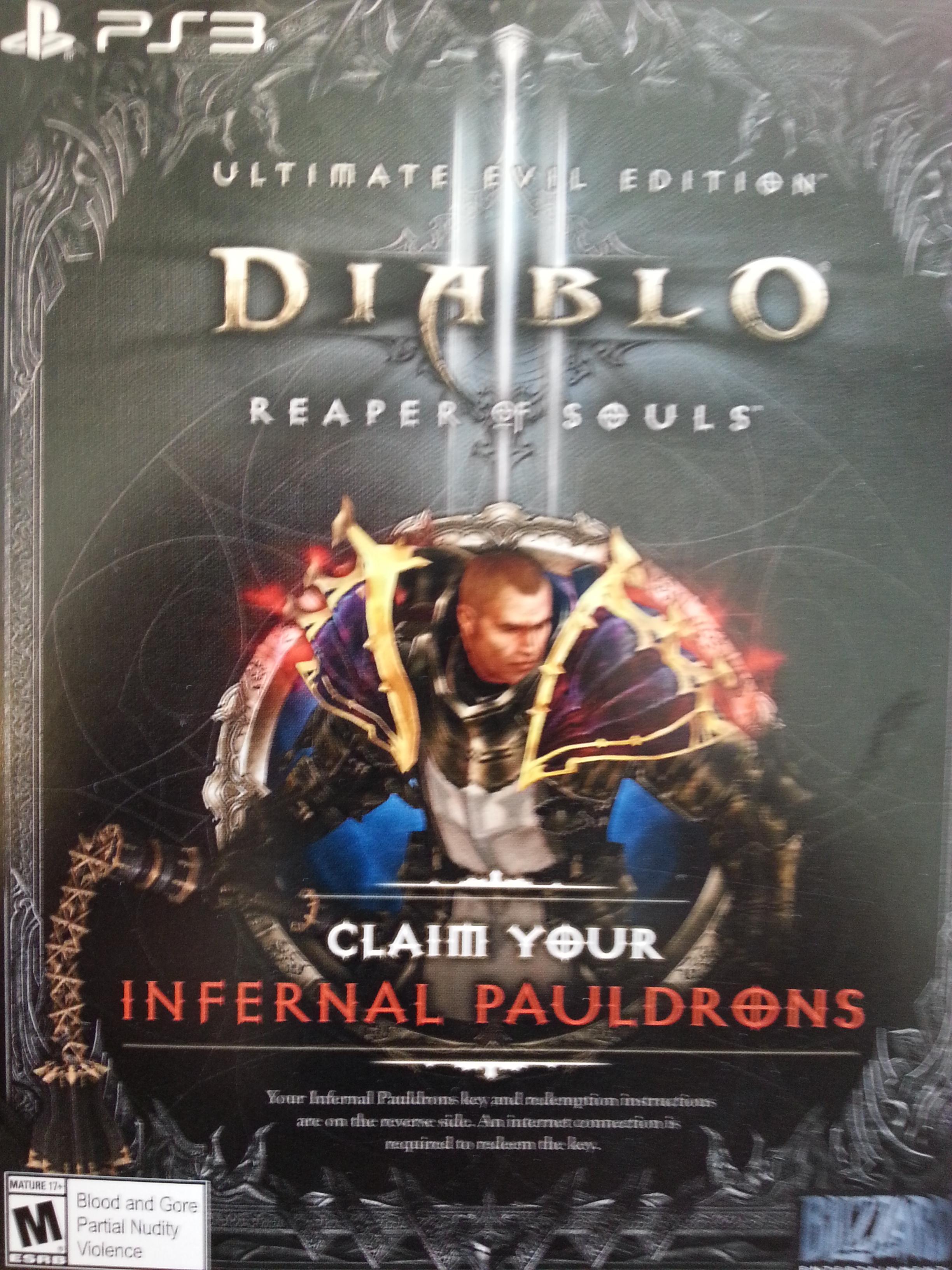 Diablo III Reaper SoulInfernal Pauldrons-PS3