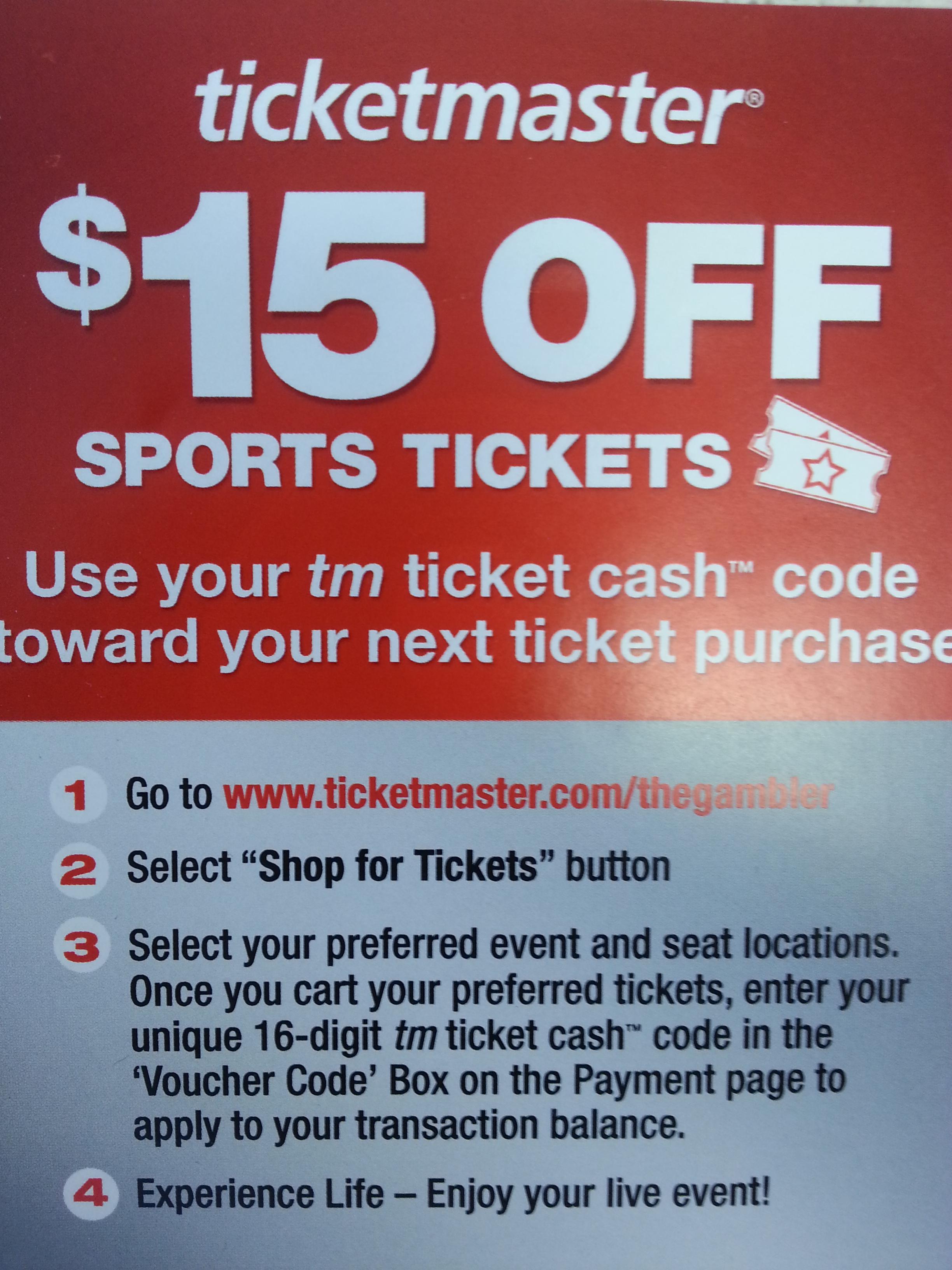 $15 Sports Tickets
