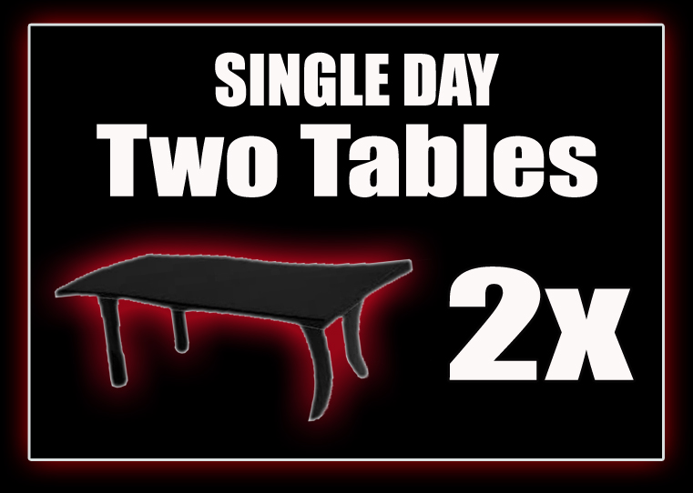 2x Tables - SINGLE DAY