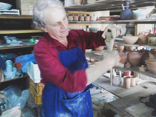 Making handles in Tajimi Japan