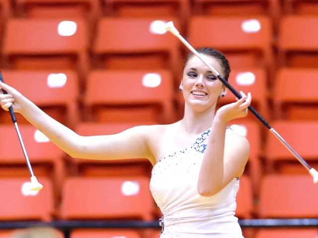Katy's Morgan Ranch Feature Twirler Morgan Bull performs her 2-Baton routine at the 2013 Southwest Region Miss Majorette and Twirling Champions held in Ft Worth, Texas.