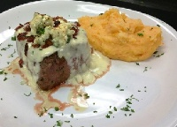 Bacon and Blue Cheese Filet