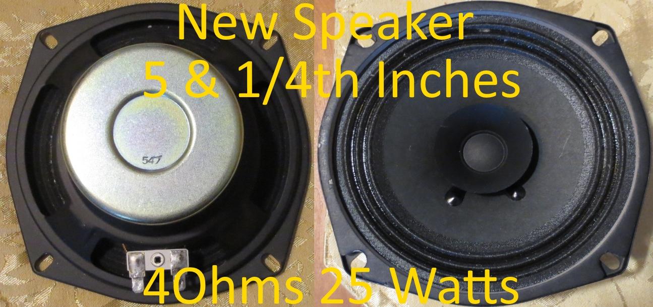 New 4Ohm 25WatSpeaker