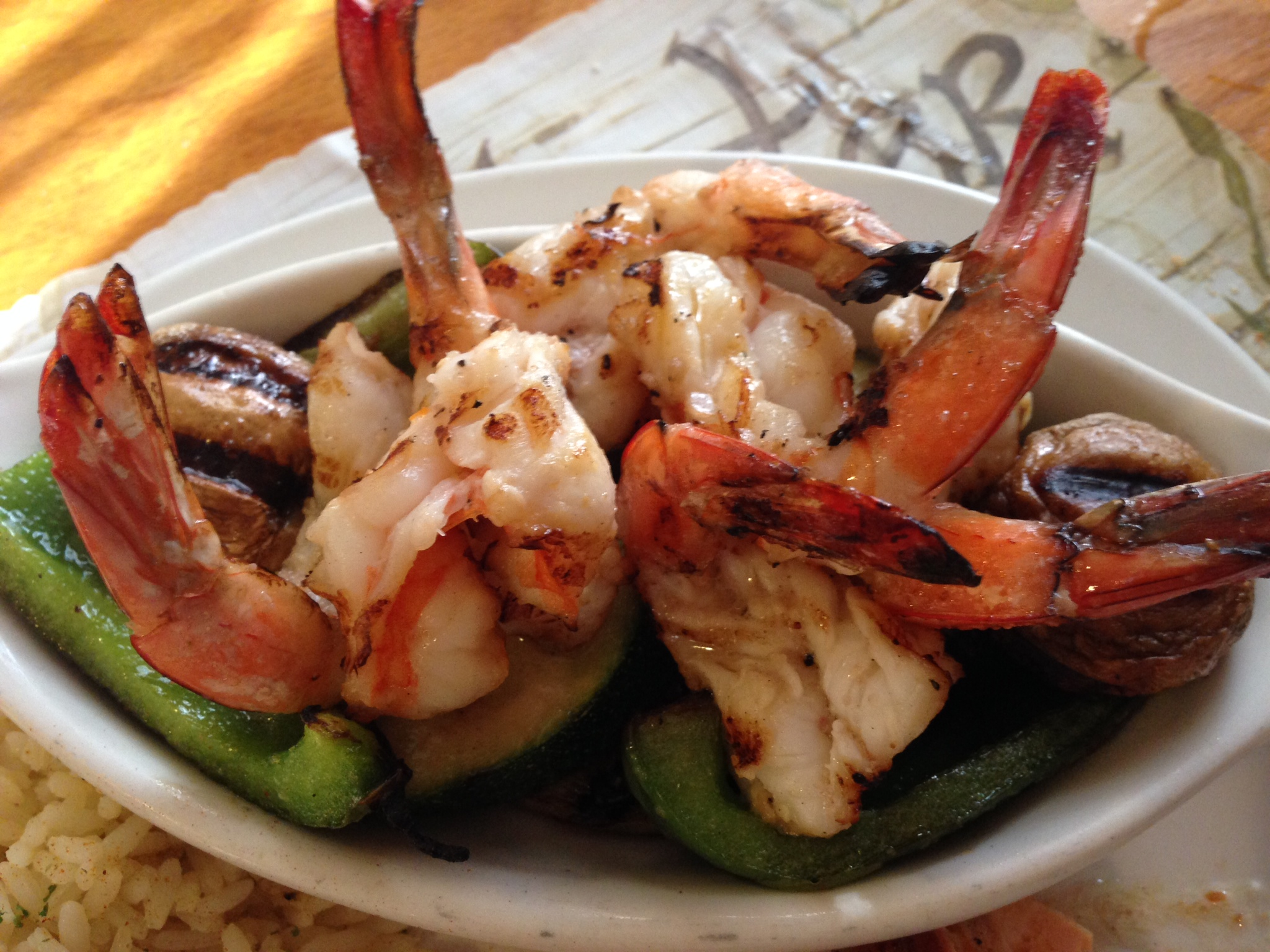 Charbroiled Prawns