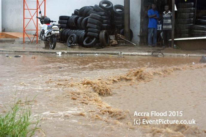 Flood in Ghana, Accra, 2015