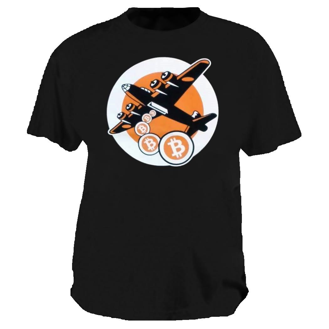 Black Bitcoin Not Bombs t-shirt