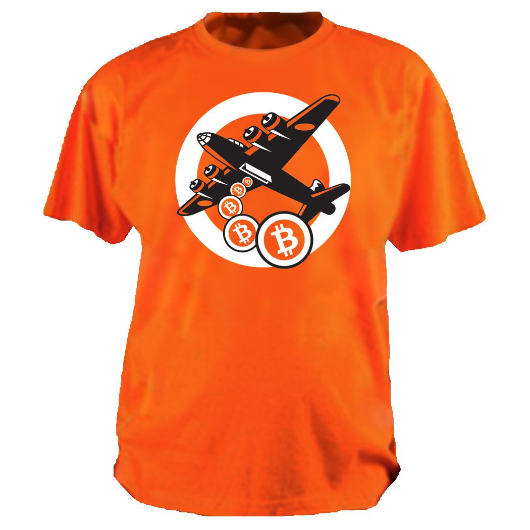 Orange Bitcoin Not Bombs t-shirt
