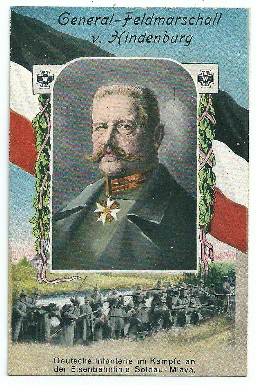 1914-HINDENBURG-Dzialdowo-SOLDAU-Mlava-Deut-Infant-im-Kampf