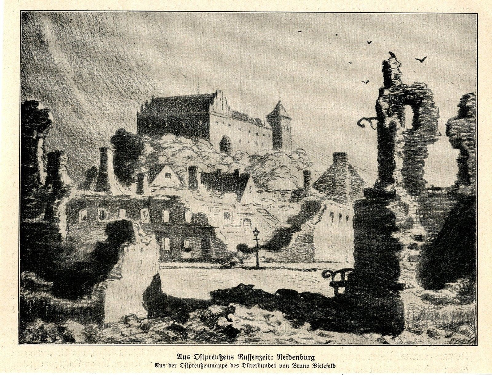 1914-Ostpreussen-Die-Russen-in-Land-Neidenburg-WW1