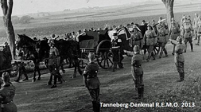 Beisetzung von Paul von Hindenburg 1934 -