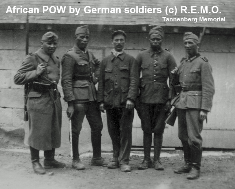 African, black prisoners of war (POW), taken by German soldiers