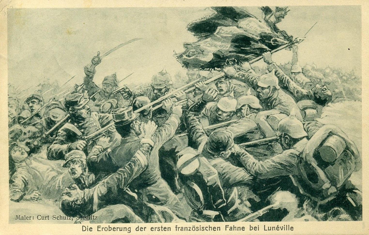 Eroberung-der-1-franz-Fahne-WK1-GERMANY-WW1-