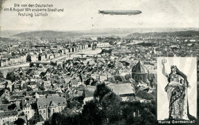 Feldpostkarte - Die von den Deutschen am 8.8.1914 eroberte Stadt Lüttich 1915