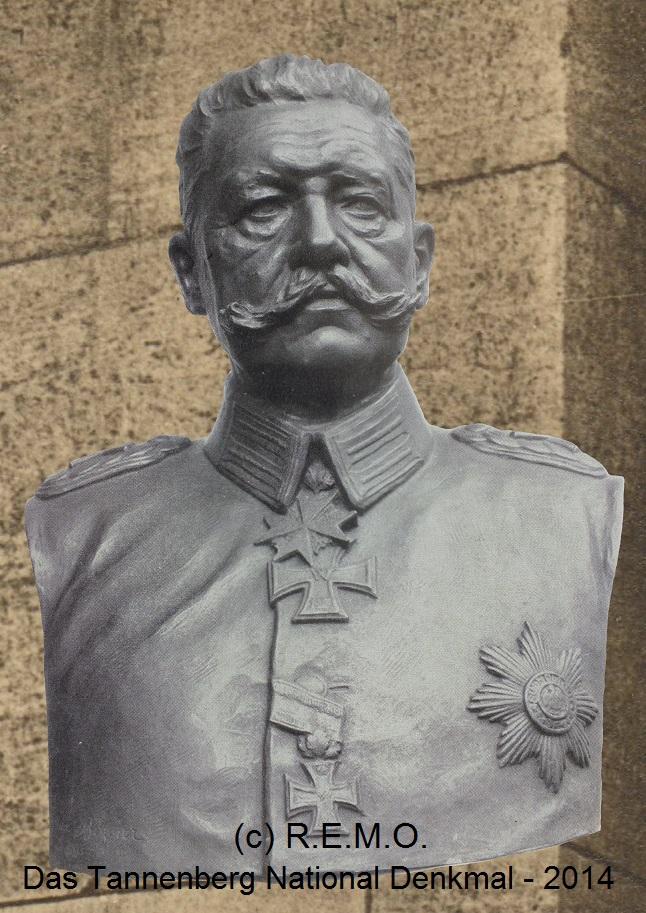 Die originale Hindenburgbueste, wie sie im Feldherrenturm des Tannenberg National Denkmals stand - Tannenberg Denkmal
