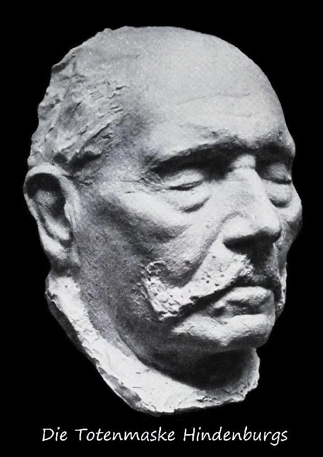 Paul von Hindenburg, die Totenmaske (c) R. Wagener 2013