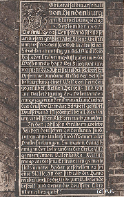 Tafel am Eingang des Tannenbergdenkmals iin Ostpreissen