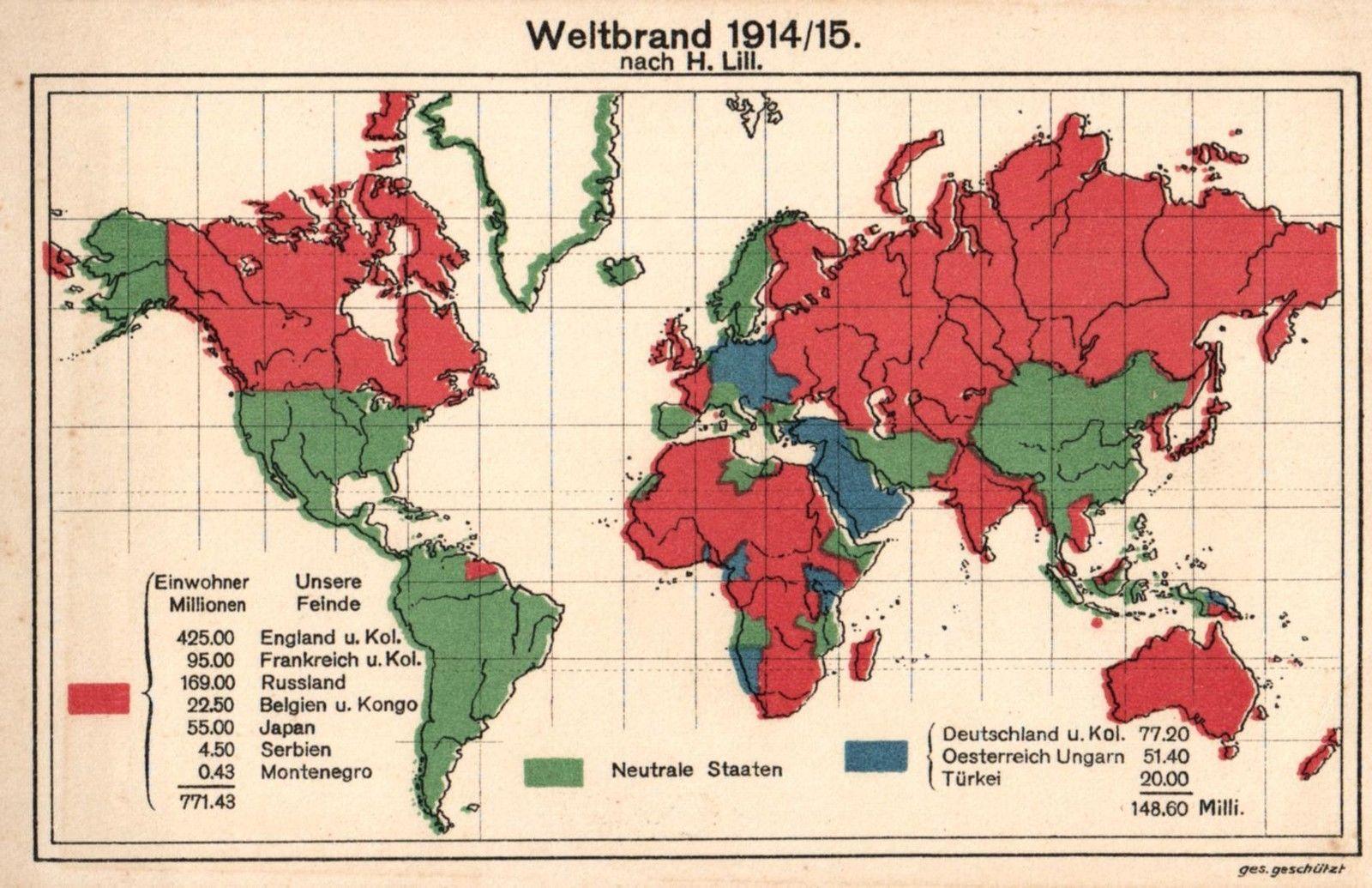 Weltkriegskarte - Tannenberg Schlacht