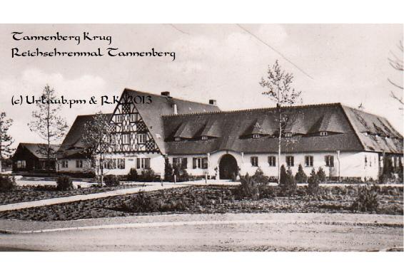 Tannenberg Krug, Frontansicht am Tannenberg Denkmal, Ostpreussen