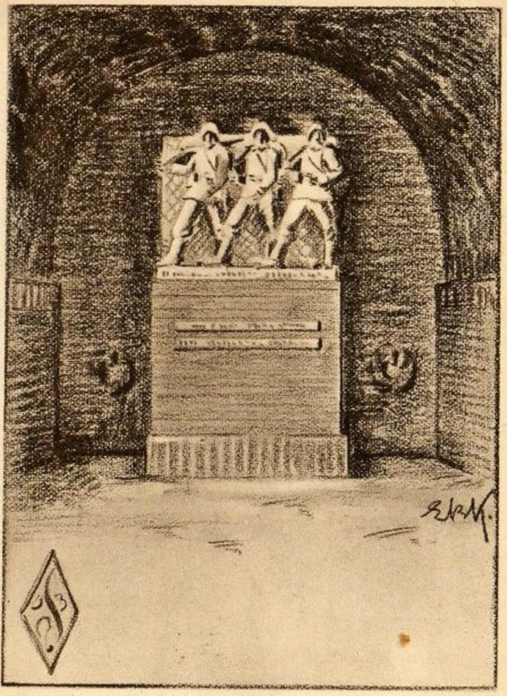 Tannenberg-Monument-fuer-die-Gefallenen-Ich hatt 'einen Kameraden • Seinen Gefallenen • Der Sängerbund Ostpreußen.