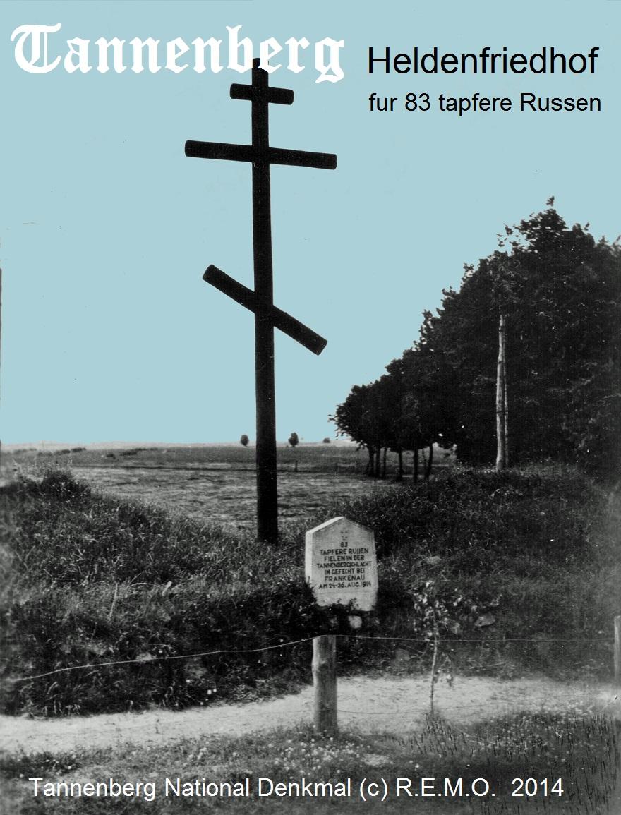Heldenfriedhof fuer 83 tapfere Russen, gefallen im Gefecht bei Frankenau am 24.-26. August 1914