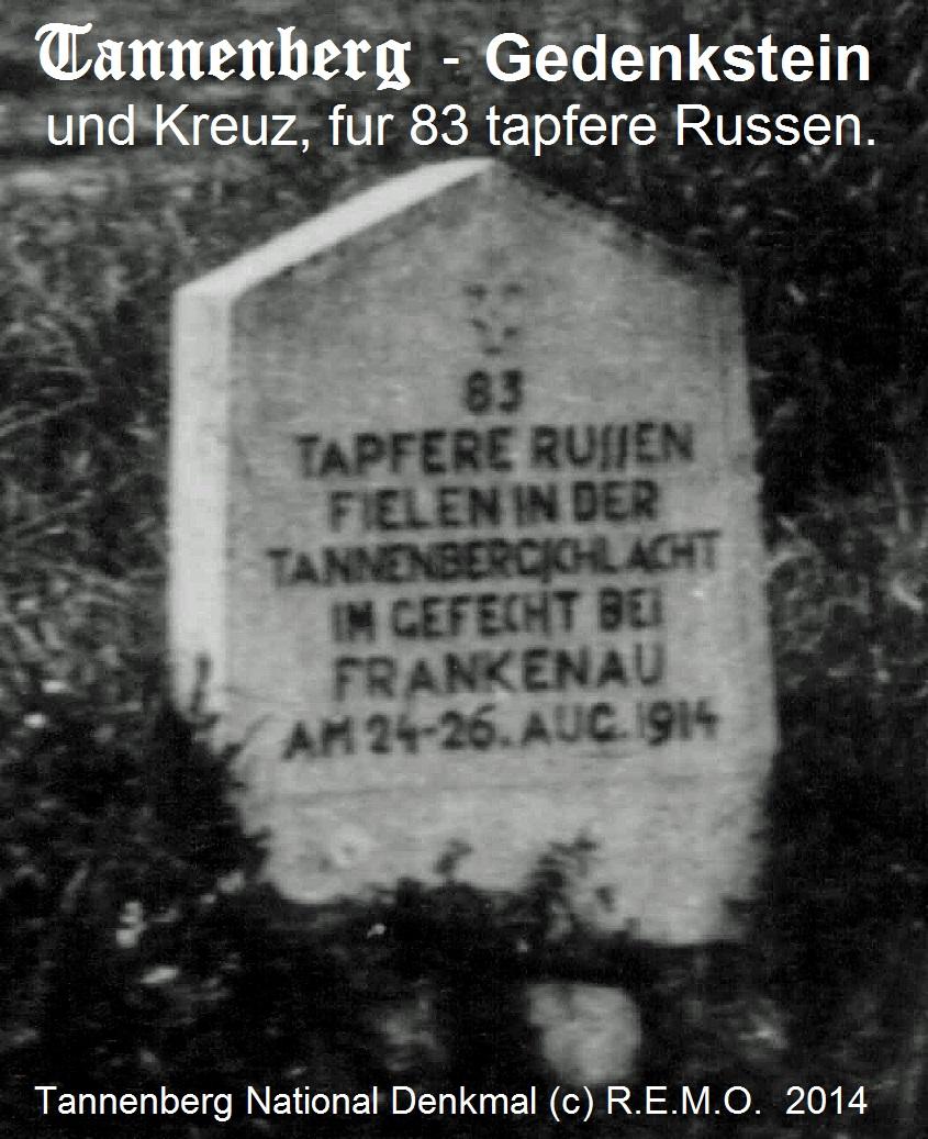 Gedenkstein am Heldenfriedhof fuer die 83 tapfere Russen, gefallen im Gefecht bei Frankenau