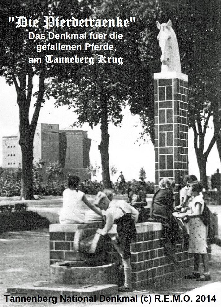 Ehrenmal für die gefallenen Pferde - am Tannenberg Denkmal bei Hohenstein - Ostpreussen