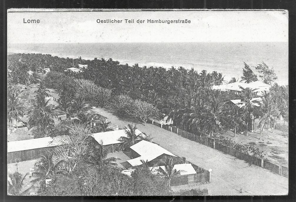 Togo Lome Hamburgerstrasse Mission Africa stamp ca 1910