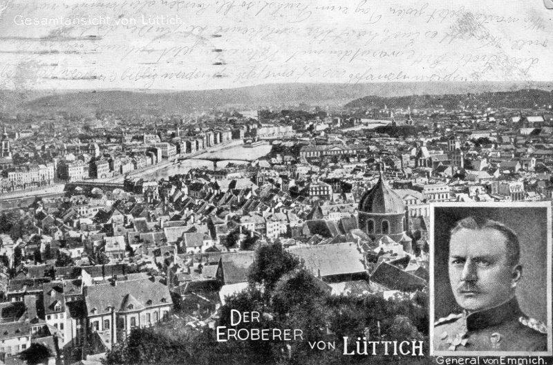 Wk1 Belgien Westfront Der Eroberer von Lüttich General von Emmich 1914 Dresden