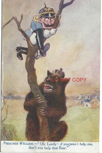 Anti-Deutsche, fruehe August Postkarte: