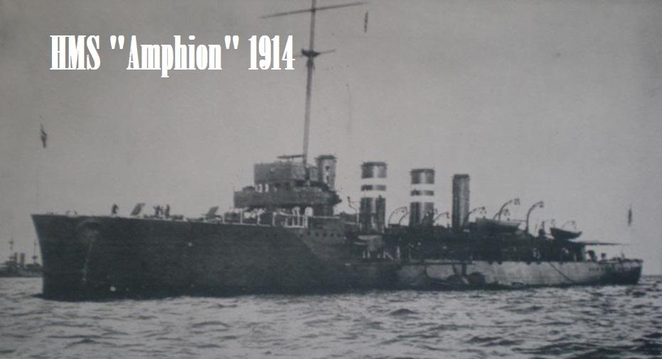 WW1-Foto-der-HMS-Amphion-1914-