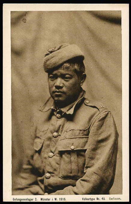 WW1 - 1916, Prisoner of war, P.O.W. taken by Germans, Ygurkha - British-India-Soldier