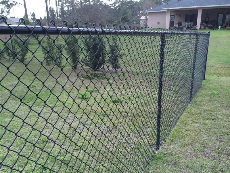 Black chain link Fence Orlando