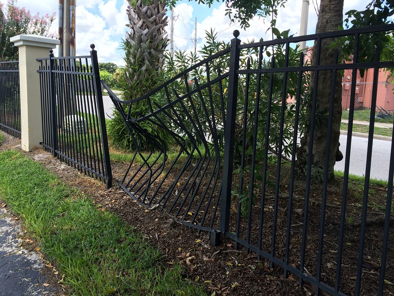 Aluminum fence repair