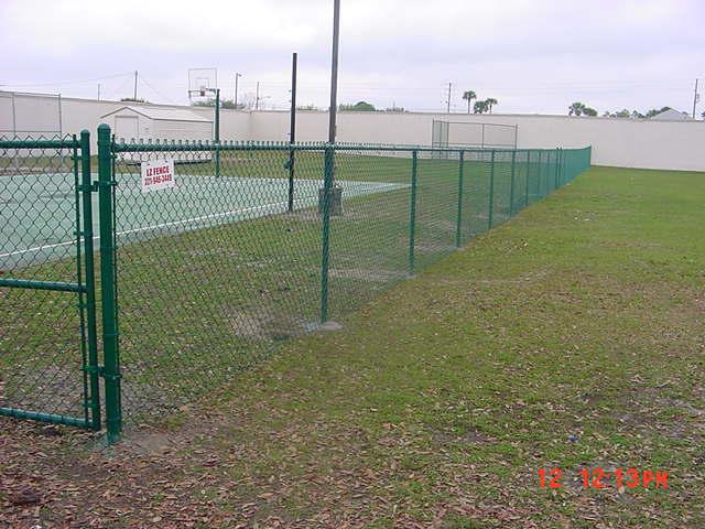Green Chain link fence Orlando