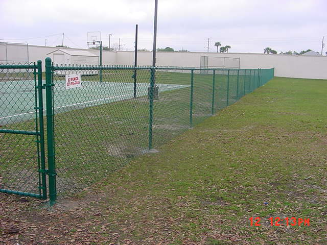 Green chain link Fence Orlando