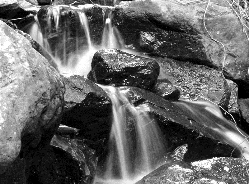 Black and white stream