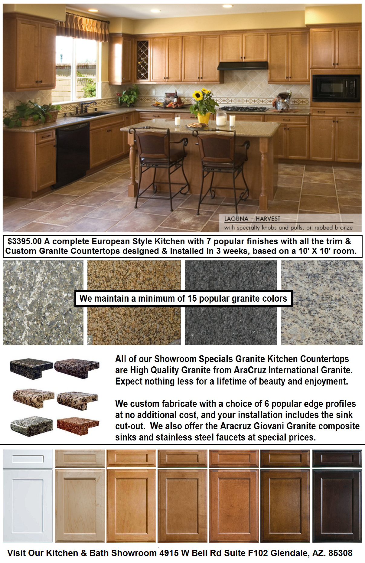 Granite Countertops On Sale : European Kitchen Cabinets Granite Countertops On Sale Phoenix