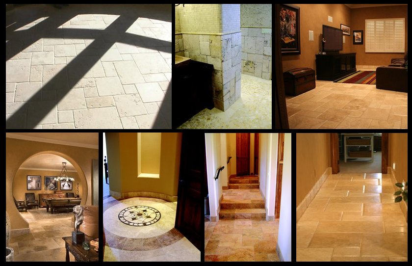 Phoenix Travertine Tile Flooring Contractor Designs Patterns