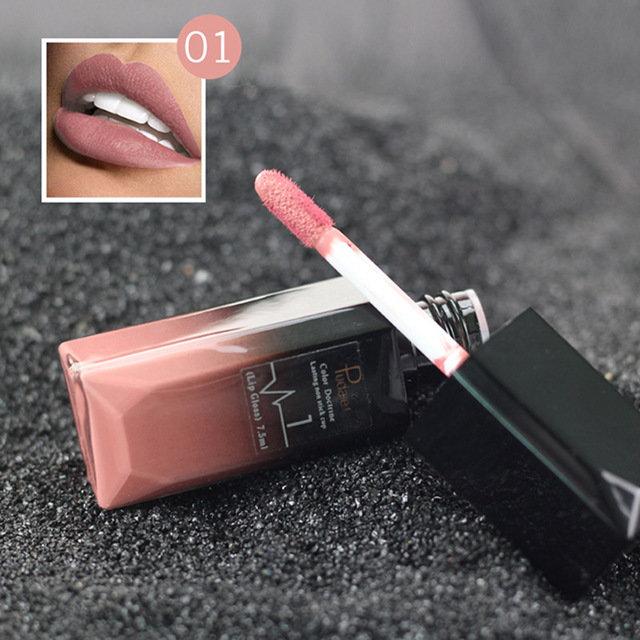 Matte Lip Gloss Lipstick Liquid Moisturizing Long Lasting Waterproof Lips