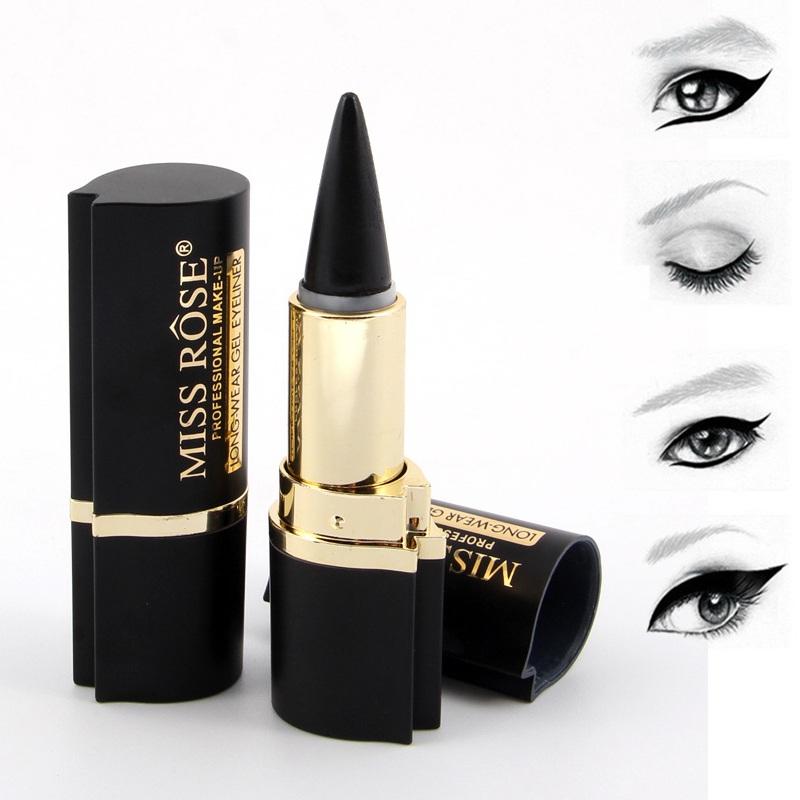 MISS ROSE Black Waterproof Eyeliner Paste Pencil Gel