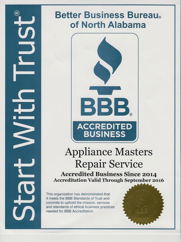 Appliance Repairs In Athens Decatur Huntsville