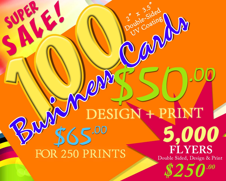 Business Card Super Sale