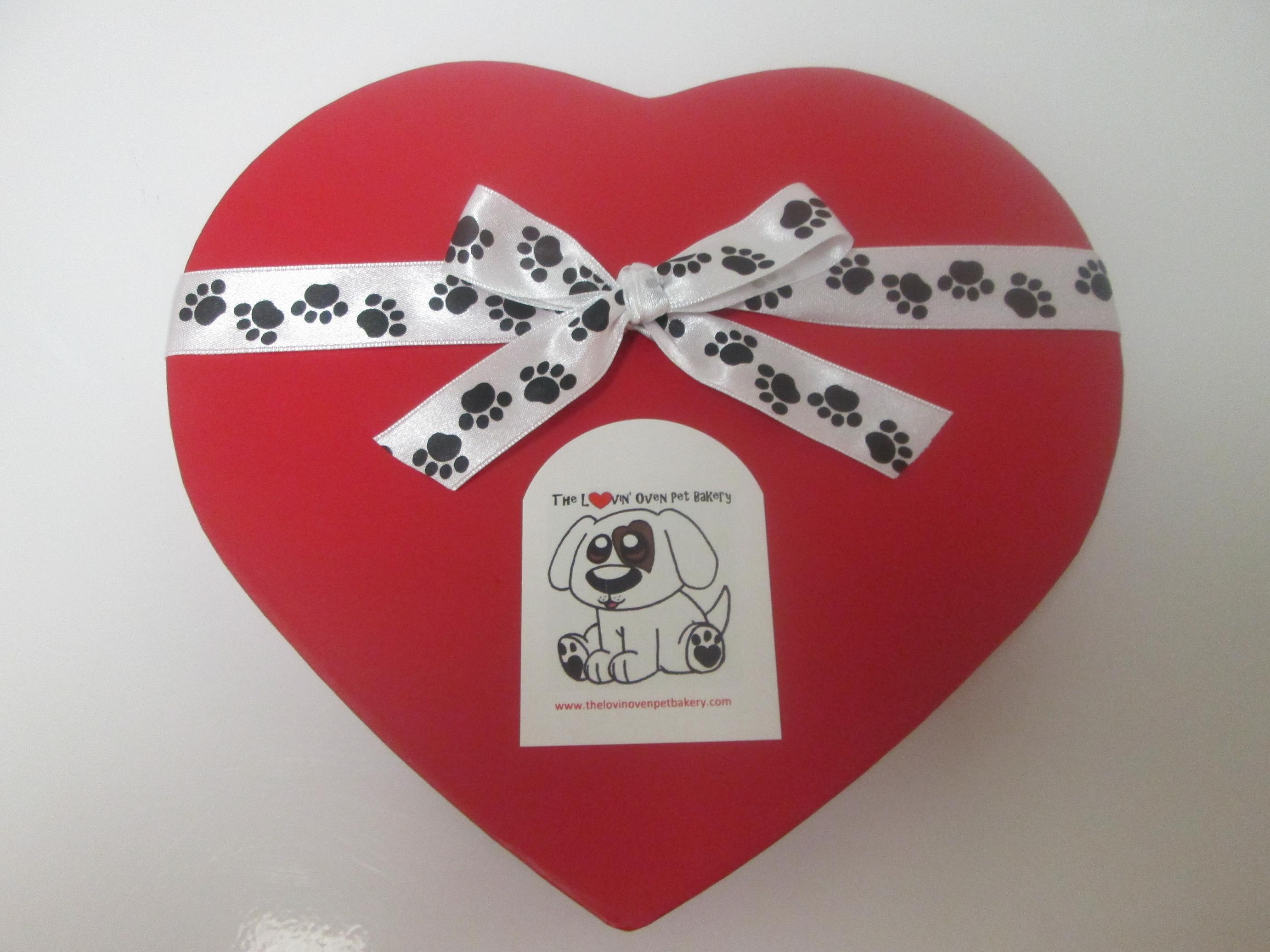 Heart shaped treat box