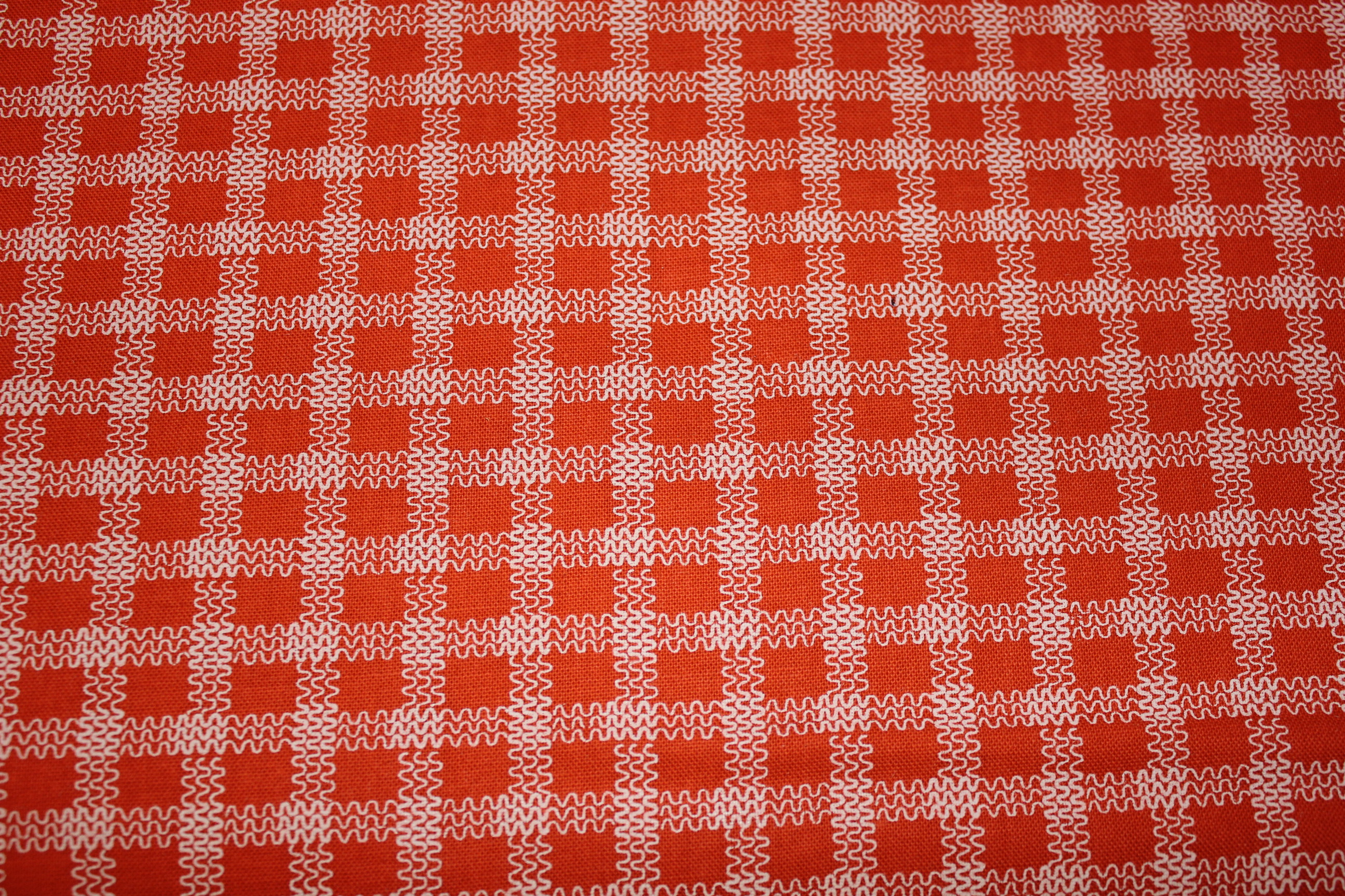 Orange Fabric by Connecting Threads
